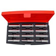 Bahco S1612L Deep Socket Set 1/2 Inch Drive 12 Pieces, Orange/Black
