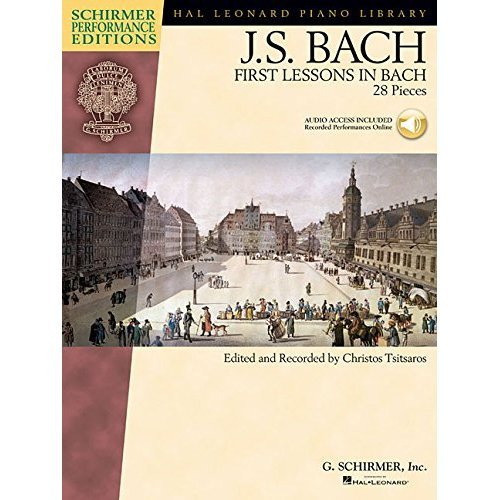 J.S. Bach  First Lessons In Bach (Book/Cd) Pf (Schirmer Performance Editions)