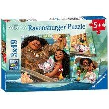 Official Moana Jigsaw Puzzle Set   3 Ravensburger Jigsaw Puzzles