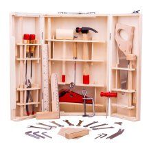 28pc Bigjigs Toys Junior Tool Box With Toy Tools | Kids' Wooden Tool Kit