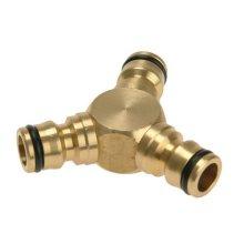 Rehau 283669100 Brass Y Connector 12.5mm 1/2in
