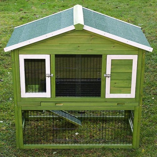 Outdoor Rabbit Hutch with Run All Seasons