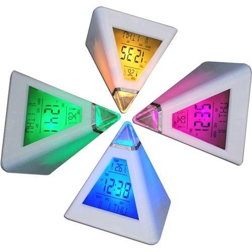 Digiflex Multicoloured Digital Alarm Clock   Colour Changing LED Clock