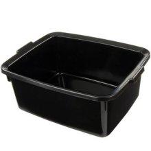 Addis Plastic Butler Large Rectangular Bowl, Soft Black, 12.5 Litre