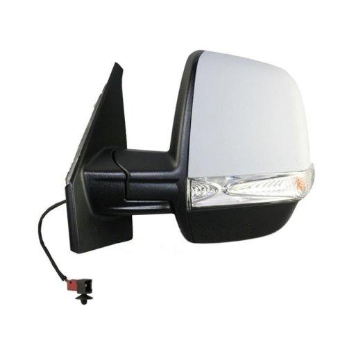 Vauxhall Combo Mk3 Van 2012-> Electric Wing Door Mirror Primed Passenger Side