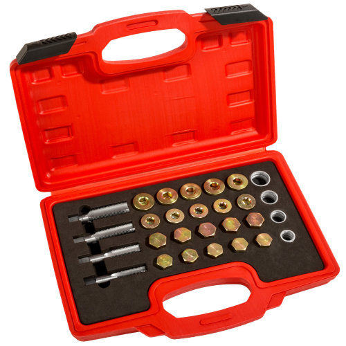 tectake Oil drain plug repair kit - oil drain plug, oil drain valve - silver