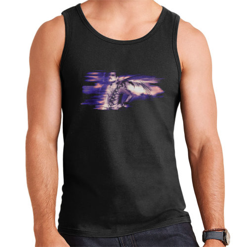 Freddie Mercury Of Queen Its A Hard Life Shoot 1984 Purple Flare Men's Vest