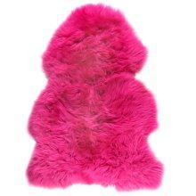 Lambland Genuine British Fuschia Pink Sheepskin Rug