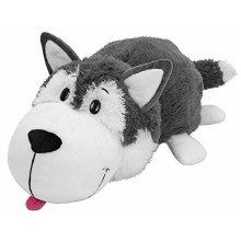 Flipazoo 16 Husky Dog to Polar Bear Stuffed Animal, HuskyPolar Bear, 16
