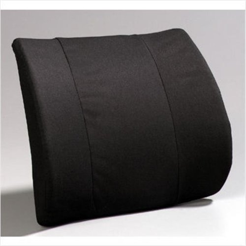 A6006BK Premium Lumbar- Flat Back molded foam-Black