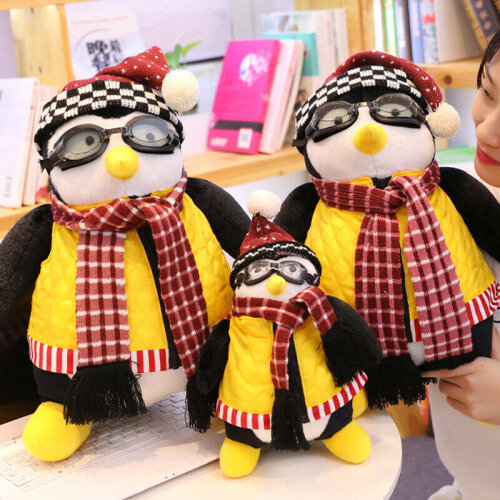 47/27CM Joeys Friends Hugsy Plush Cute Penguin Stuffed Doll Animal Xmas Gift
