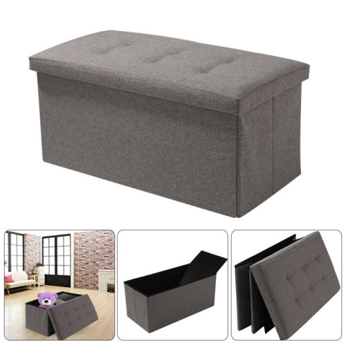 Linen Storage Foldaway Seat Stool Bench Chest Toy Box Pouffe Bench