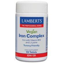 Lamberts Vegan Iron Complex Tablets 120 (8244-120)
