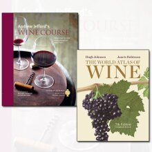 Wine Course and World Atlas 2 Books Collection Set