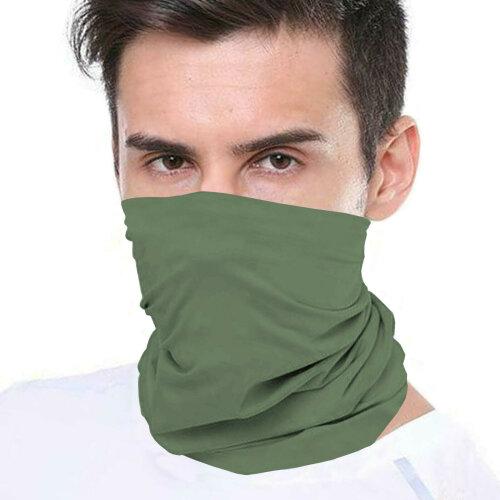 (Green) Bandana Face Covering Mask Biker Tube Snood Scarf Neck Cover