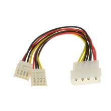 kenable Power Splitter Cable   4 pin Molex to 2 x 4 pin  Floppy  Plugs
