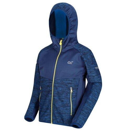 (3 - 4 years, Oxford Blue/Prussian) Regatta Tazer Kids Softshell Jacket
