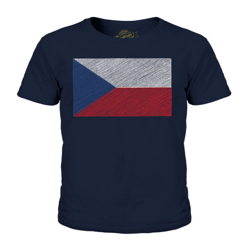 Candymix - Czech Republic Scribble Flag - Unisex Kid's T-Shirt