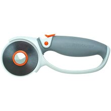 Fiskars Titanium Rotary Cutter, â² 60 mm, For Right- and Left-handed Users, Orange/White/Grey, 1004753