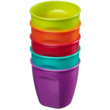 Vital Baby Nourish Perfectly Simple Cups 5 Pack Bright Colors Latex-Free
