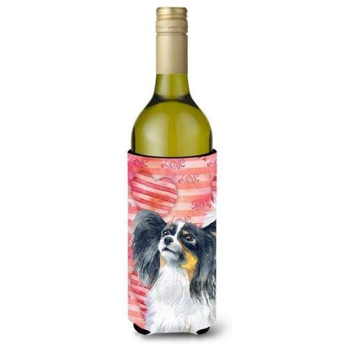 Papillon Love Wine Bottle Beverge Insulator Hugger