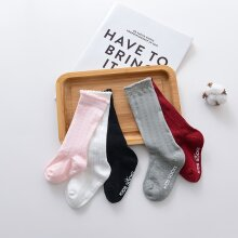 5 Pairs New Kids Socks Toddlers Girls Big Bow Knee High Long Soft Cotton Lace baby Socks