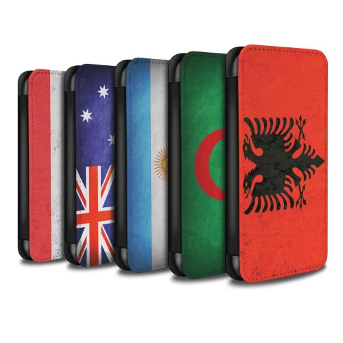 Flags Samsung Galaxy J3 Phone Case Wallet Flip Faux PU Leather Cover for Samsung Galaxy J3