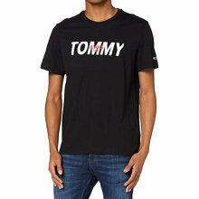 Tommy Jeans Mens T Shirts Crew Neck Regular Cotton XXL Black