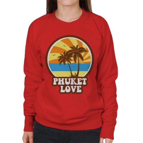 Phuket Love Retro Women's Sweatshirt