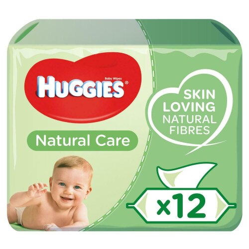 Huggies Natural Care Baby Wipes 12 pack, Total 672 Wipes