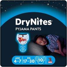 Huggies DryNites Boy's Spiderman Pyjama Pants, 4-7 Years (30 Pants)