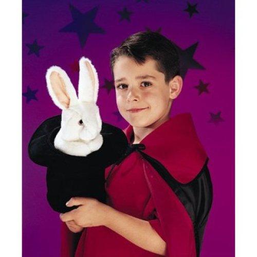Hand Puppet - Folkmanis - Rabbit In Hat New Animals Soft Doll Plush Toys 2269