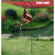 Solar Led Warm String Lights Star Shower Garden Art Light Decoration Watering Can Shape Copper Wire Fairy Light Outdoors Sculptures Statues for Yard