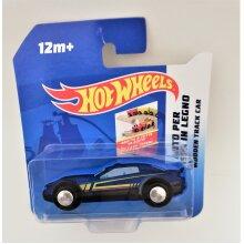 Hot Wheels Wooden Track Car (Blue + Yellow Stripes ) 12m+