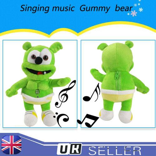 """Gummy Bear Plush With Musical Cuddly Soft Doll Toy 11"""""""