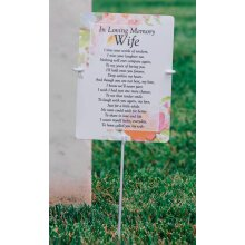 Outdoor memorial card ground stake 30cm x 13cm (card not included)