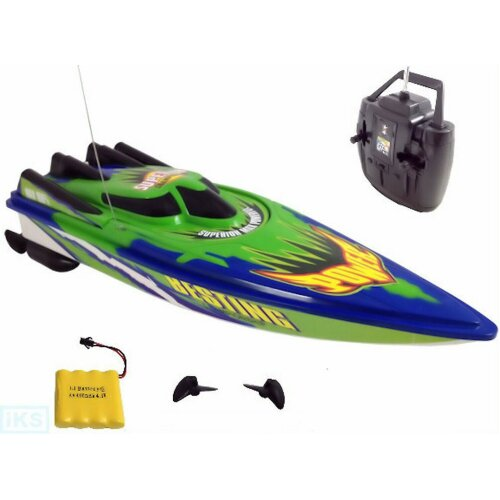 RECHARGEABLE RADIO REMOTE CONTROL TWIN ENGINE & MOTOR HIGH SPEED BOAT