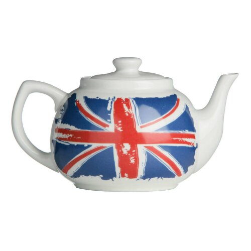 Cool Britannia Teapot Porcelain 1.2Ltr Tableware Serving Dining Bar