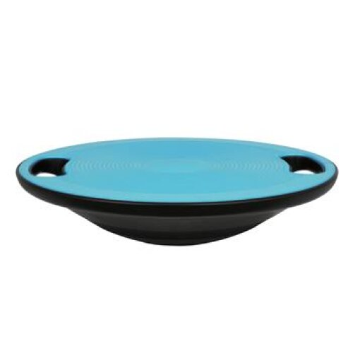 (Blue) Balance Training Wobble Board Non Slip Exercise With Handle