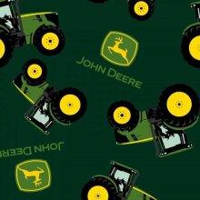 Fat Quarter John Deere Tractor Logo Toss 100% Cotton Quilting Fabric