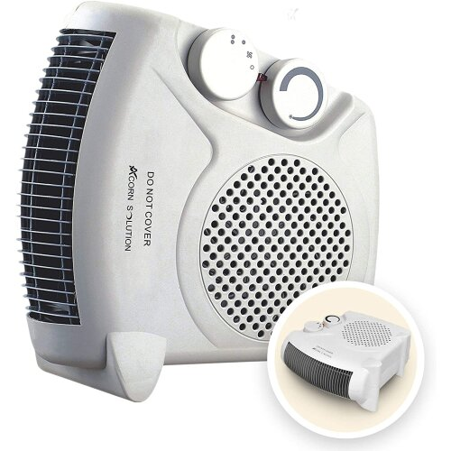 AcornSolution Electric Portable 2KW Fan Heater with Adjustable Thermostat FH06