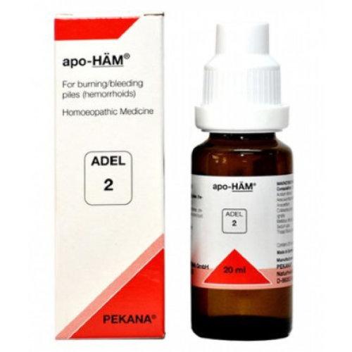 5 Pack ADEL 2 Apo-Ham Drops 20 ml each