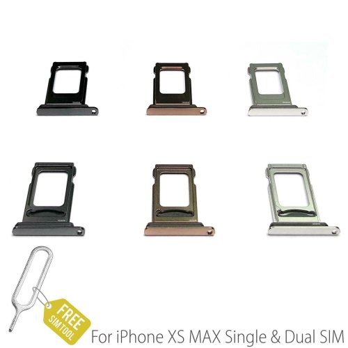 For iPhone XS Max Single & Dual Sim Card Tray Holder Slot with Waterproof Seal