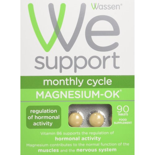 Wassen We Support Monthly Cycle Magnesium-OK - 90 Tablets