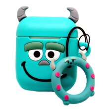 BWD Airpod Case Cover Blue Novelty Cartoon Silicone  1st/2nd Gen