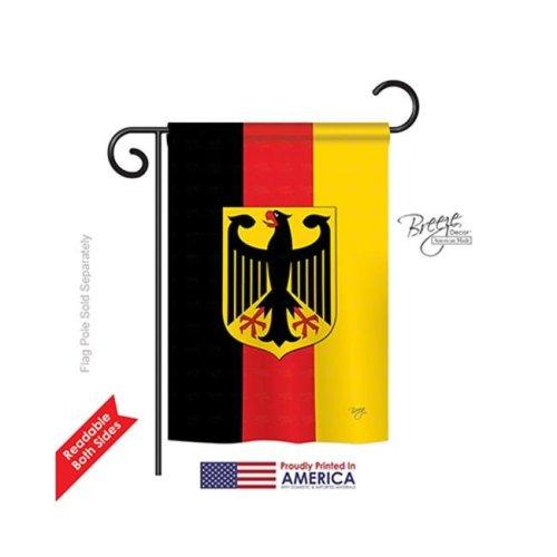 Breeze Decor 58085 Germany 2-Sided Impression Garden Flag - 13 x 18.5 in.