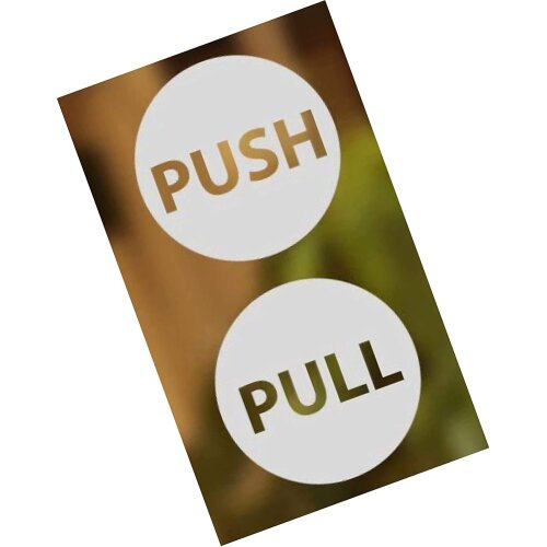 Pull Push Door Signs Stickers Shop Window Salon Bar Cafe Restaurant Office Vinyl Sign