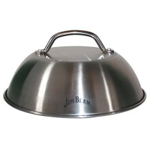 """Jim Beam JB0181 9"""" Burger Cover and Cheese Melting Dome Silver"""