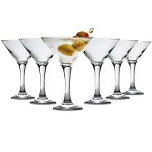 6pc Rink Drink Martini Cocktail Glasses Gift Box - 6 x 175ml Glasses