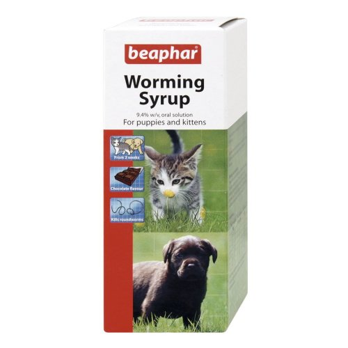 Beaphar Worming Syrup for Puppies and Kittens 45ml